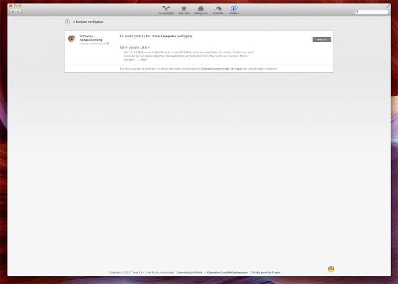 Update: OS X 10.8.4
